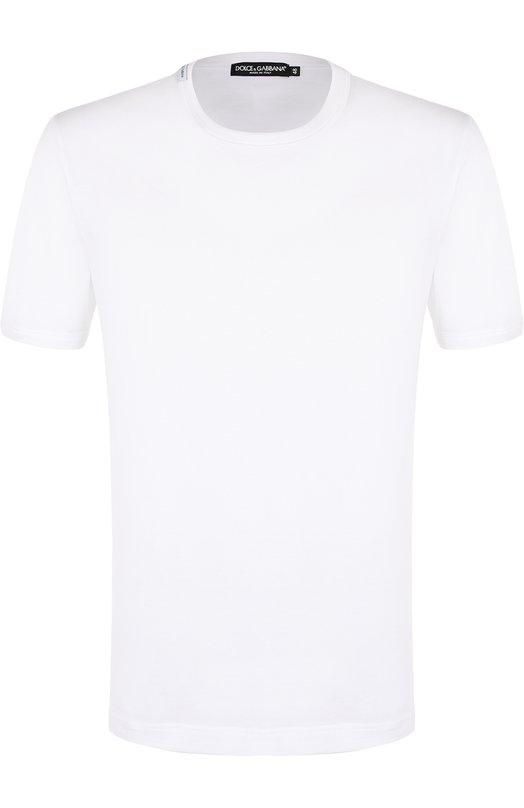 Купить Хлопковая футболка с круглым вырезом Dolce & Gabbana, 0101/G8HI7T/FU7EQ, Италия, Белый, Хлопок: 100%;