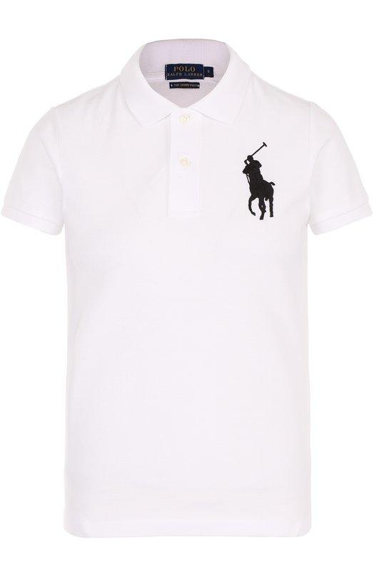 Хлопковое поло с вышитым логотипом бренда Polo Ralph Lauren 211505656