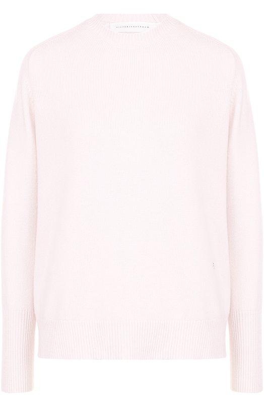 Кашемировый пуловер с круглым вырезом Victoria Beckham JU KNT 7111 PAW17 CASHMERE VK1035