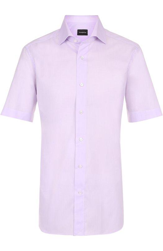 Хлопковая рубашка с короткими рукавами Ermenegildo Zegna 9013748MS0BA