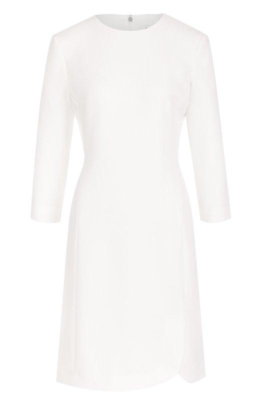 Купить Приталенное мини-платье с укороченным рукавом DKNY, DD7E1082, Вьетнам, Белый, Подкладка-полиэстер: 97%; Подкладка-эластан: 3%; Полиэстер: 100%;