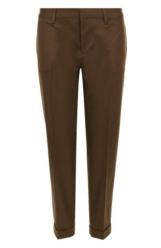 Купить Укороченные брюки из хлопка Dsquared2, S75KA0794/S41794, Италия, Зеленый, Хлопок: 100%;
