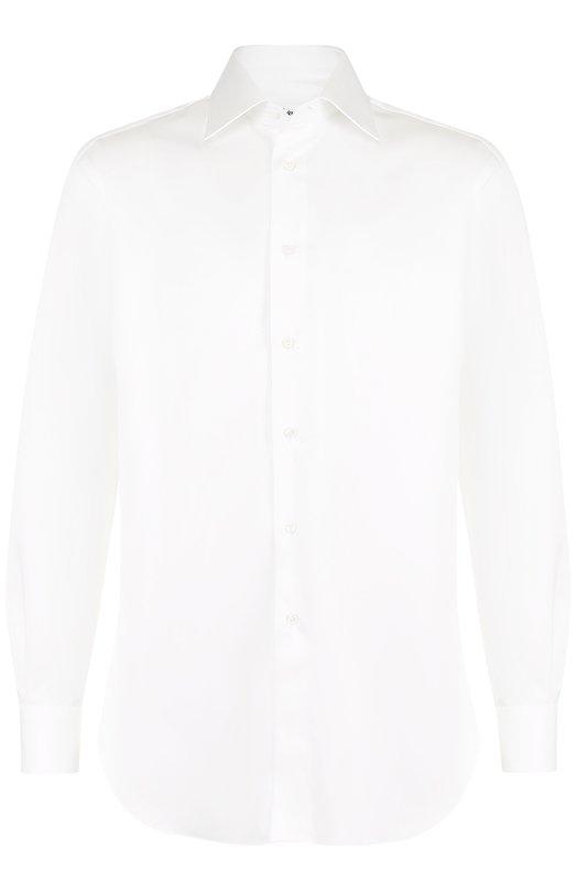 Купить Хлопковая сорочка с воротником кент Brioni, RCL9/PZ042, Италия, Белый, Хлопок: 100%;