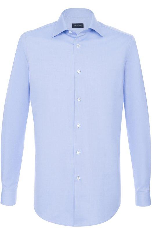 Купить Хлопковая сорочка с воротником кент Pal Zileri, 90702/370/G45, Египет, Голубой, Хлопок: 100%;