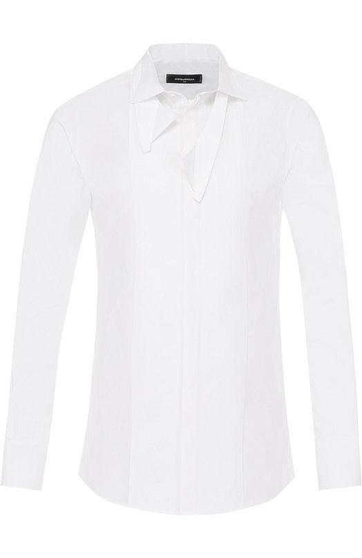 Хлопковая сорочка с воротником кент Dsquared2 S74DL0966/S42381