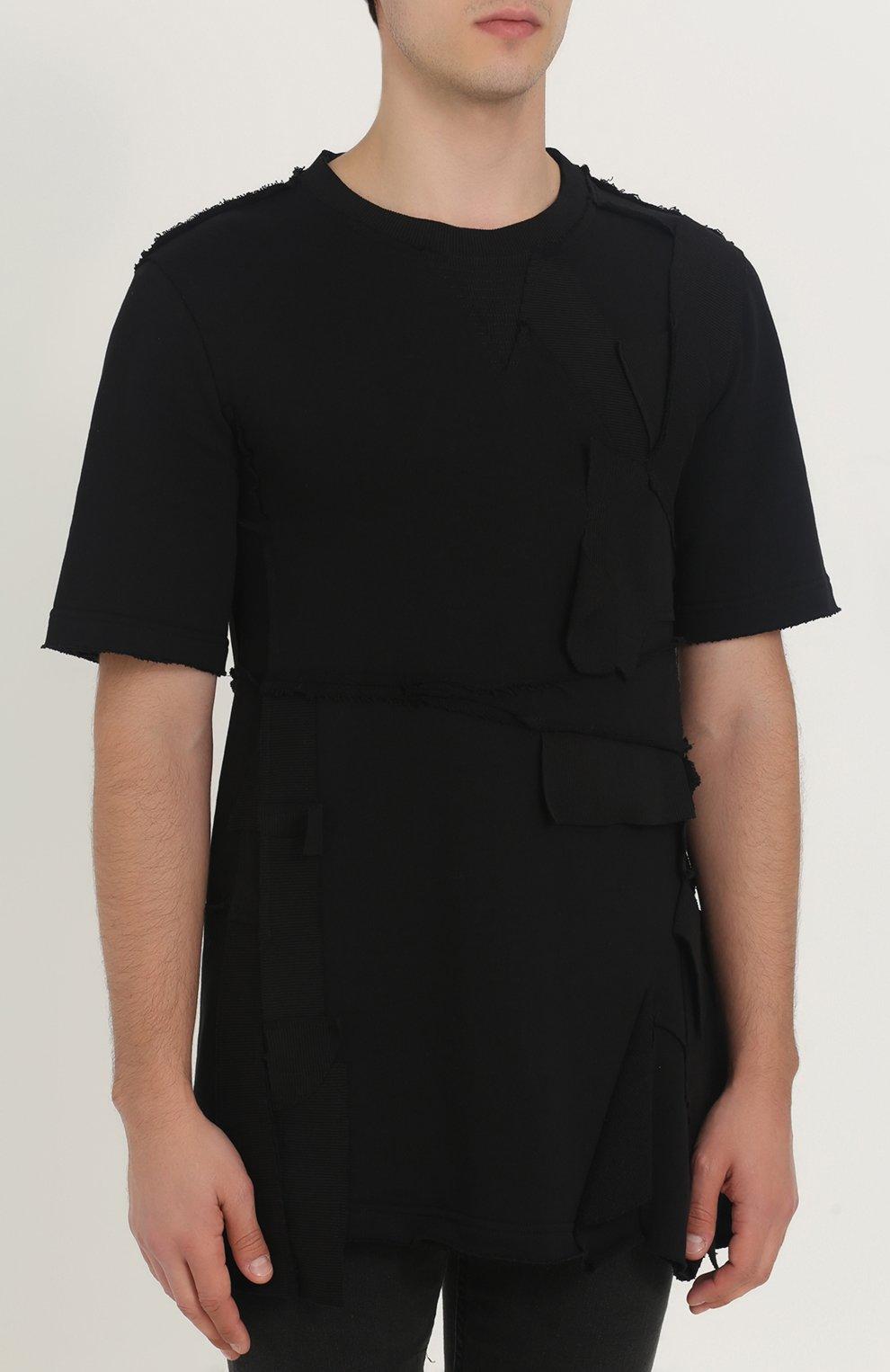 Черный джемпер с короткими рукавами