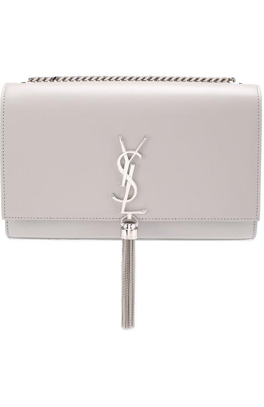 Купить Сумка Monogram medium на цепочке Saint Laurent, 354119/C150N, Италия, Светло-серый, Кожа натуральная: 100%;