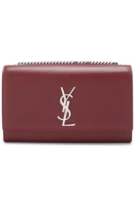 Купить Сумка Monogram Kate medium Saint Laurent, 364021/B0W0N, Италия, Красный, Вискоза: 100%; Кожа натуральная: 100%;