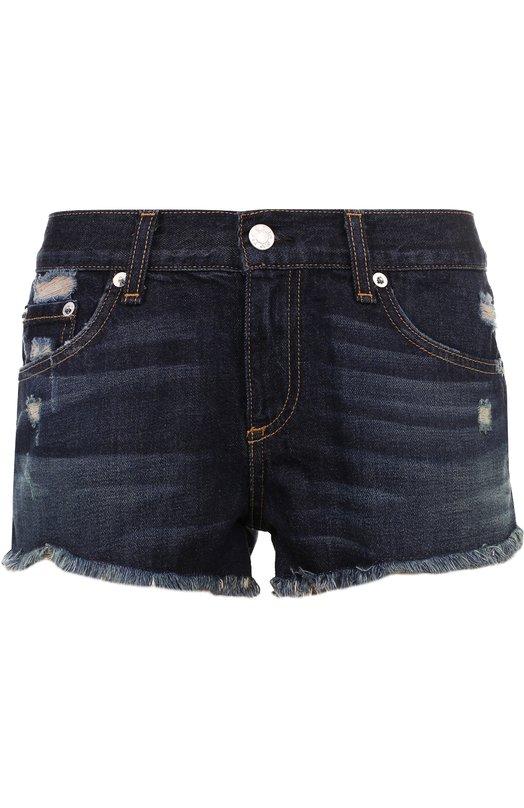Купить Джинсовые мини-шорты с потертостями Rag&Bone, W1907K273D0R, США, Синий, Хлопок: 100%;