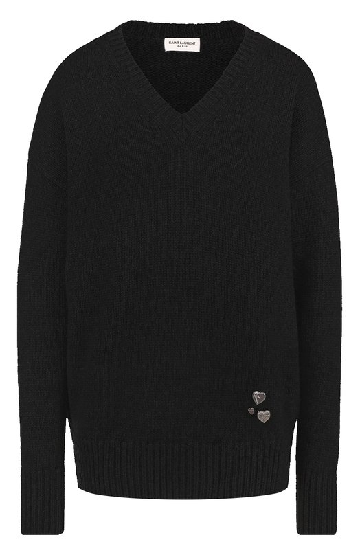 Кашемировый пуловер с V-образным вырезом Saint Laurent