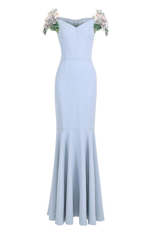 Купить Платье-макси с фактурной цветочной отделкой Dolce & Gabbana Италия 5172023 0102/F65A6Z/FURDV