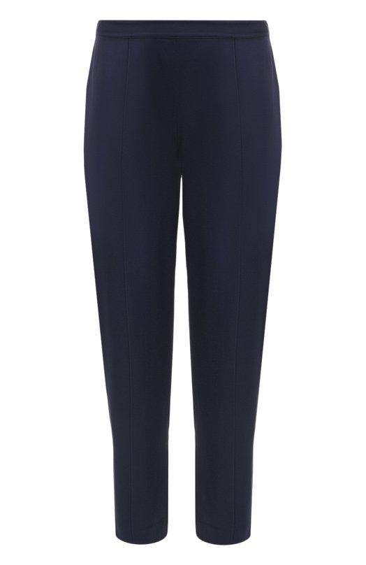 Купить Укороченные брюки прямого кроя со стрелками St. John, K82MW62, Китай, Темно-синий, Ацетат: 70%; Вискоза: 30%;