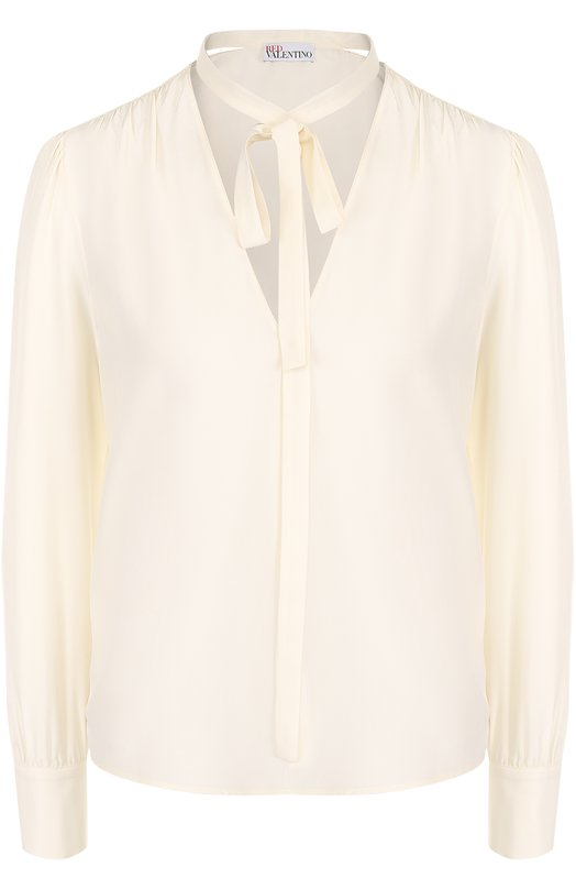 Купить Шелковая блуза прямого кроя с воротником аскот REDVALENTINO Румыния 5174507 NR3AB190/23H