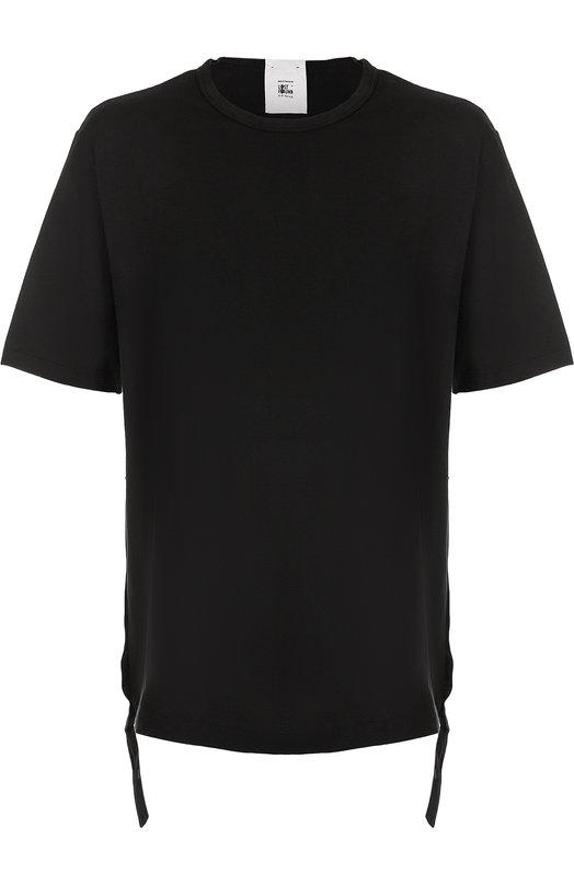 Купить Удлиненная хлопковая футболка свободного кроя Lost&Found, 550.181R, Италия, Черный, Хлопок: 100%;