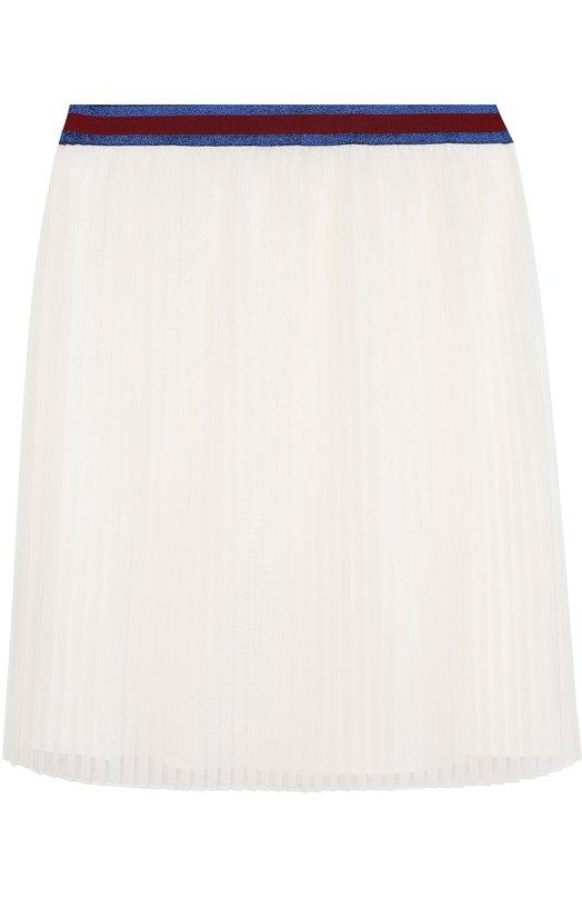 Плисированная юбка с контрастным поясом Gucci 450277/ZB349