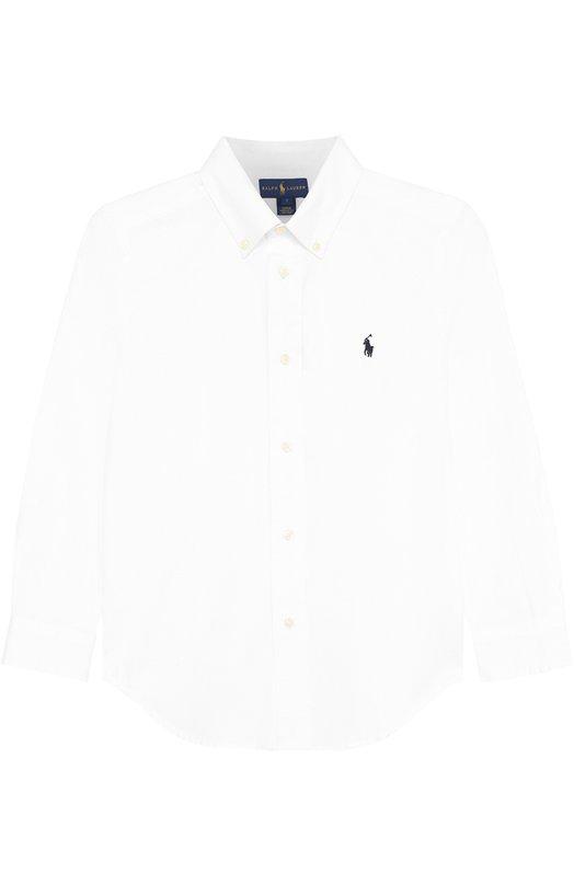 Купить 322600259, Хлопковая рубашка с логотипом бренда Ralph Lauren, Китай, Белый, Хлопок: 100%;, Мужской, Рубашки