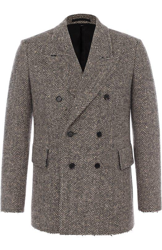 Шерстяной двубортный пиджак Burberry 4546108