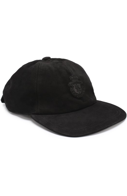 Купить Замшевая бейсболка с логотипом бренда Billionaire, W17A MAC_0104 BLE030N, Италия, Черный, Кожа натуральная: 100%; Подкладка-хлопок: 100%; Замша натуральная: 100%;
