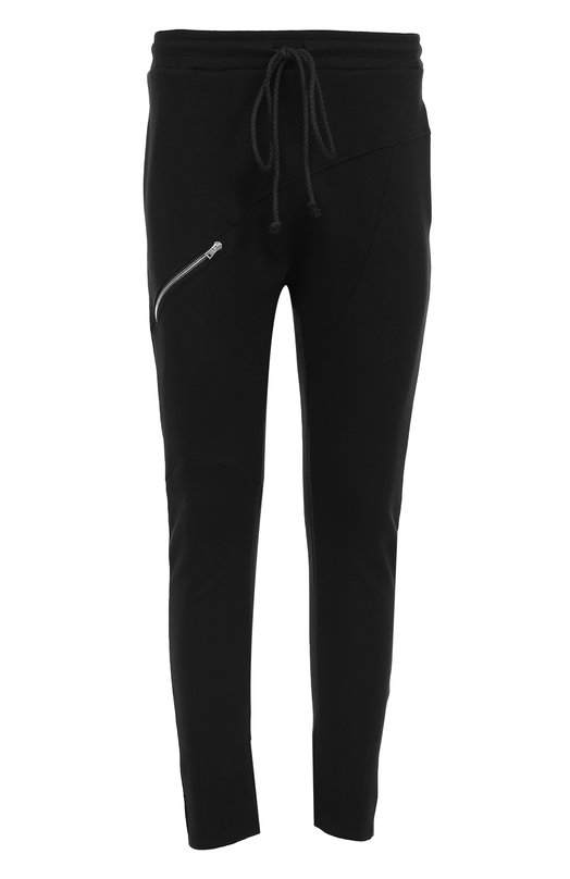 Купить Хлопковые зауженные брюки с поясом на резинке Lost&Found, 551.619R, Италия, Черный, Хлопок: 100%;