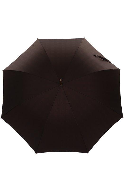 Зонт-трость с ручкой из плетеной кожи Pasotti Ombrelli 479/MILF0RD/5