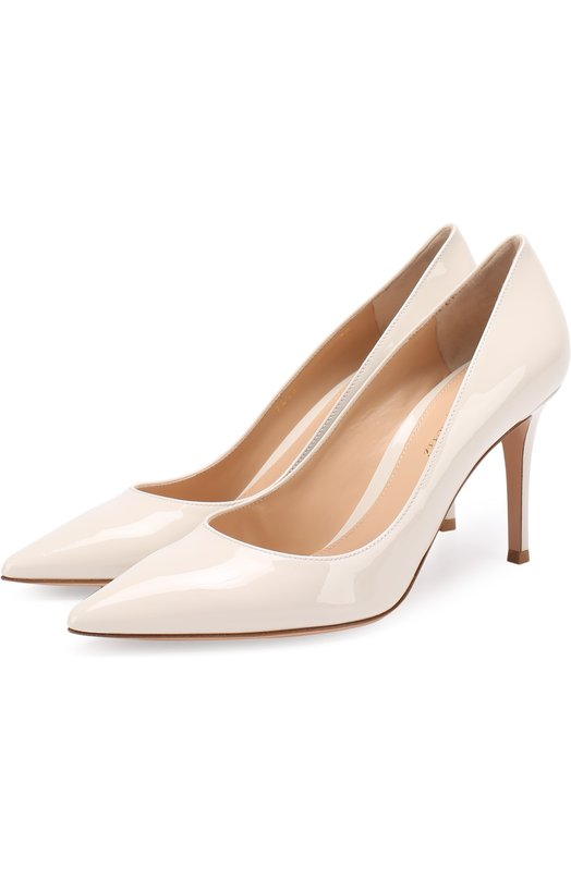 Купить Лаковые туфли Gianvito 85 на шпильке Gianvito Rossi, G24580.85RIC.VER, Италия, Белый, Кожа натуральная: 100%; Стелька-кожа: 100%; Подошва-кожа: 100%;