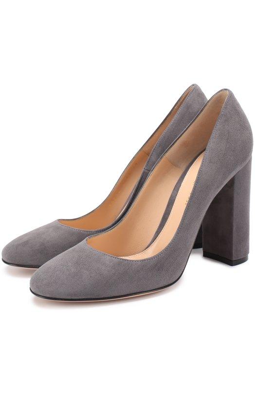 Купить Замшевые туфли Linda на устойчивом каблуке Gianvito Rossi Италия 5166572 G20214.00RIC.CAM