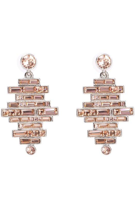 Серьги с кристаллами Swarovski Oscar de la Renta P17J120SLK
