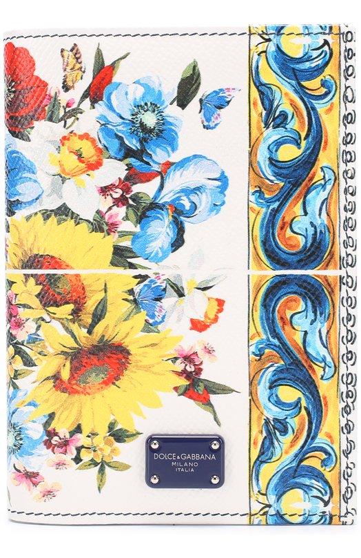 Кожаная обложка для документов с принтом Dolce & Gabbana 0116/BI2215/AI420
