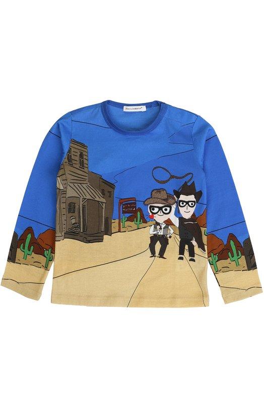 Купить Хлопковый свитшот с принтом Dolce & Gabbana, 0131/L1JT3F/G7IZE, Италия, Разноцветный, Хлопок: 100%;