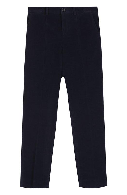 Хлопковые брюки прямого кроя Dolce & Gabbana 0131/L42P24/FUFH7/8-12