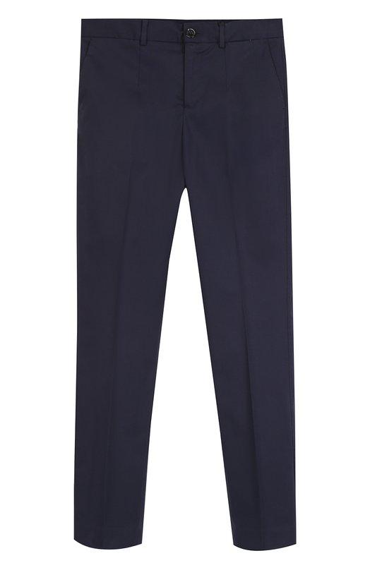 Хлопковые брюки прямого кроя Dolce & Gabbana 0131/L41P92/FUFGL/8-12