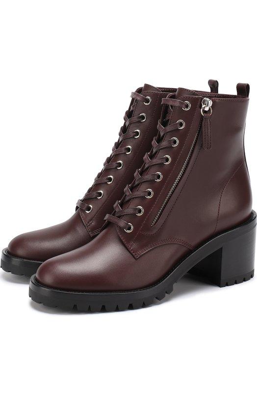 Кожаные ботинки Croft на шнуровке и с молнией Gianvito Rossi G70685.60CU0.VIP