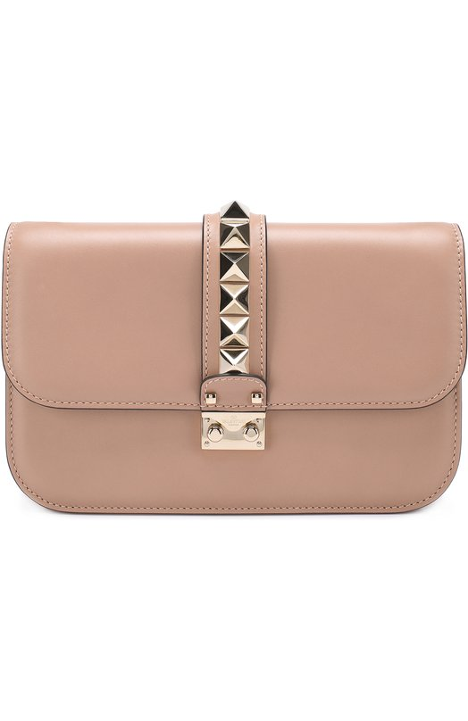 Купить Сумка Glam Lock medium Valentino, NW2B0398/VIT, Италия, Бежевый, Кожа натуральная: 100%;