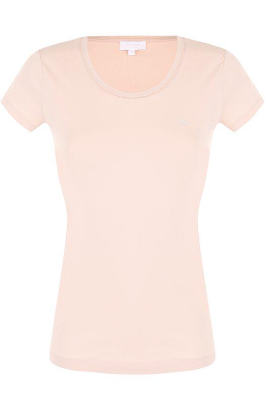 Облегающая футболка с круглым вырезом и логотипом бренда Escada Sport 5021956