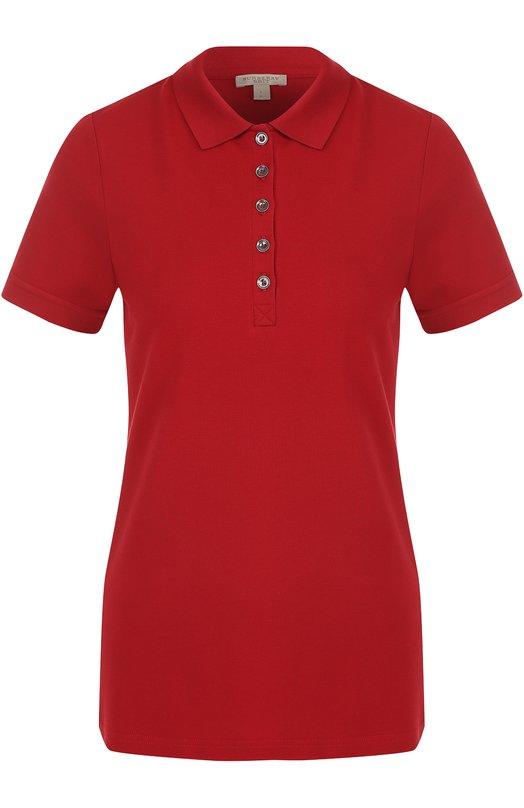 Купить Хлопковое поло с коротким рукавом Burberry, 4557694, Турция, Красный, Хлопок: 98%; Эластан: 2%;