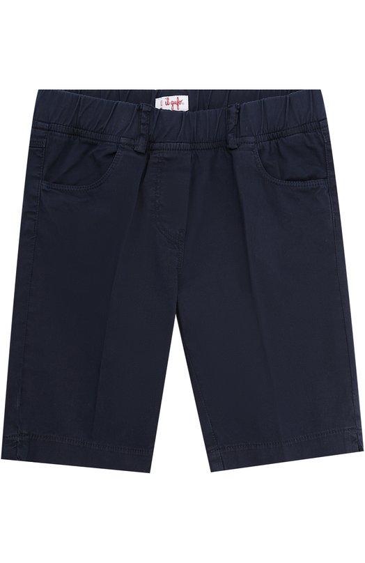 Хлопковые шорты с эластичной вставкой на поясе Il Gufo P17PB041/C6002/5-8