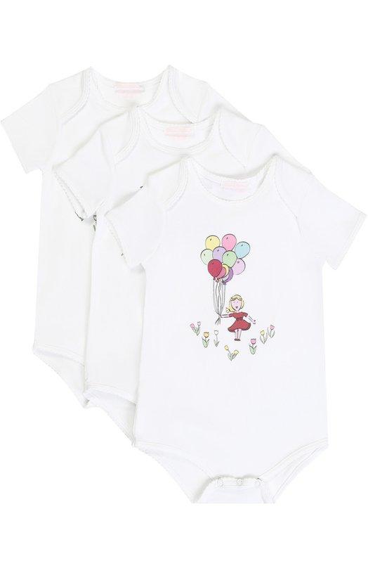 Купить Комплект из трех хлопковых боди с принтом Dolce & Gabbana, 0131/L2U720/FUGFH, Болгария, Разноцветный, Хлопок: 98%; Эластан: 2%;
