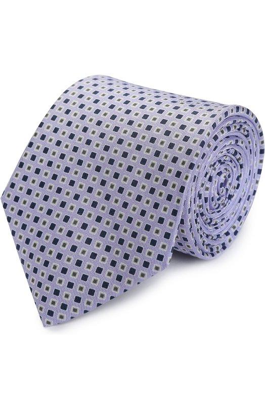 Купить Шелковый галстук с узором BOSS, 50369977, Италия, Розовый, Шелк: 100%;