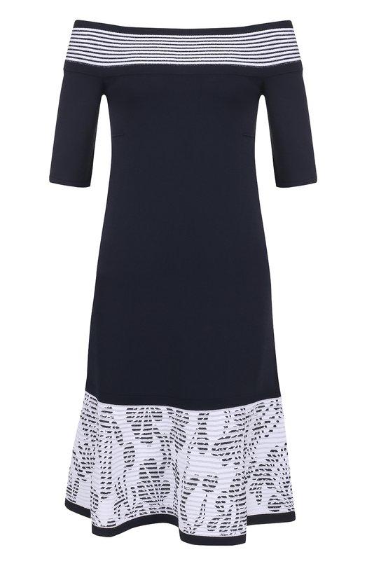 Вязаное платье-миди с открытыми плечами D.Exterior 44236