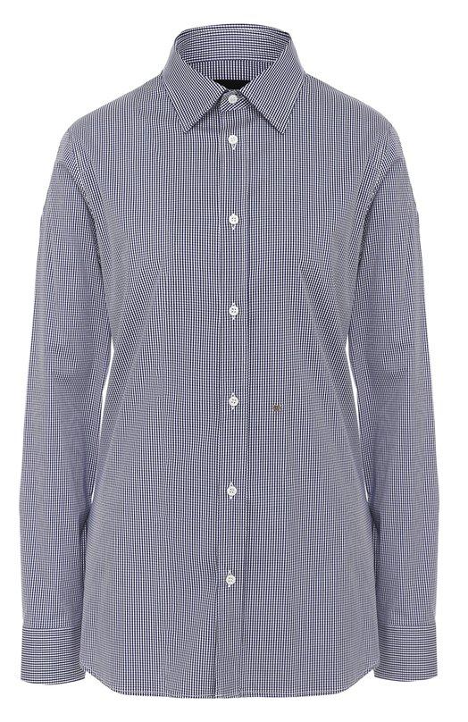 Хлопковая блуза свободного кроя в клетку Dsquared2 S75DL0524/S42886