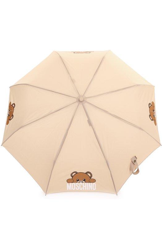 Купить Складной зонт Moschino, 8194-0PENCL0SE, Китай, Бежевый, Полиэстер: 100%;