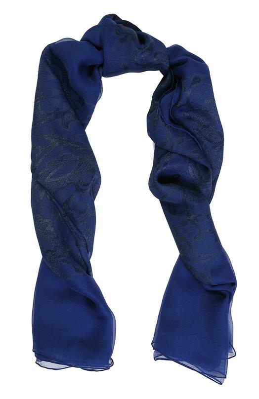 Платок из шелка и вискозы и вышивкой Elie Saab SE1414/J1332