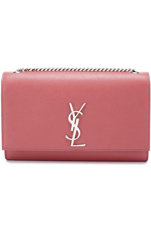 Купить Сумка Monogram Kate medium Saint Laurent, 364021/B0W0N, Италия, Розовый, Вискоза: 100%; Кожа: 100%; Кожа натуральная: 100%;