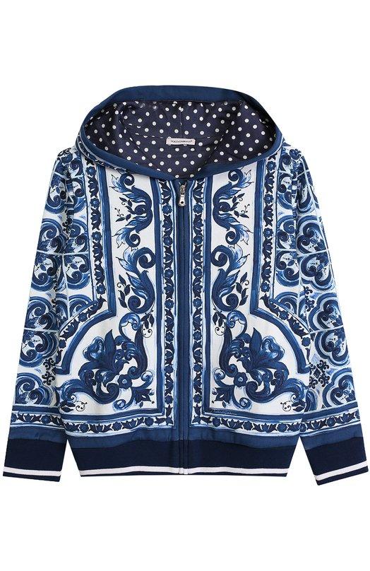 Спортивный кардиган на молнии с принтом Dolce & Gabbana 0131/L4JW0R/G7HSH/2-6