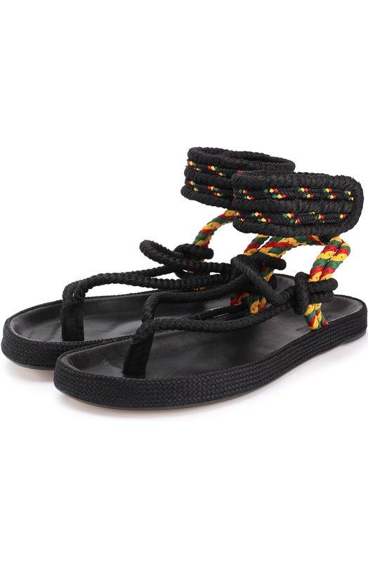 Плетеные сандалии с застежкой велькро Isabel Marant Etoile SD0161-17P019S/EPIPA