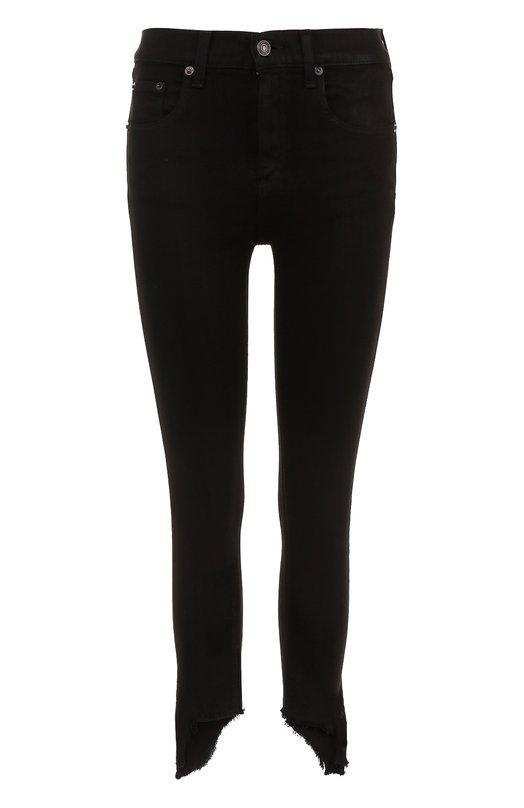 Купить Укороченные однотонные джинсы-скинни Rag&Bone, W1566K502BLH, США, Черный, Хлопок: 98%; Полиуретан: 2%;