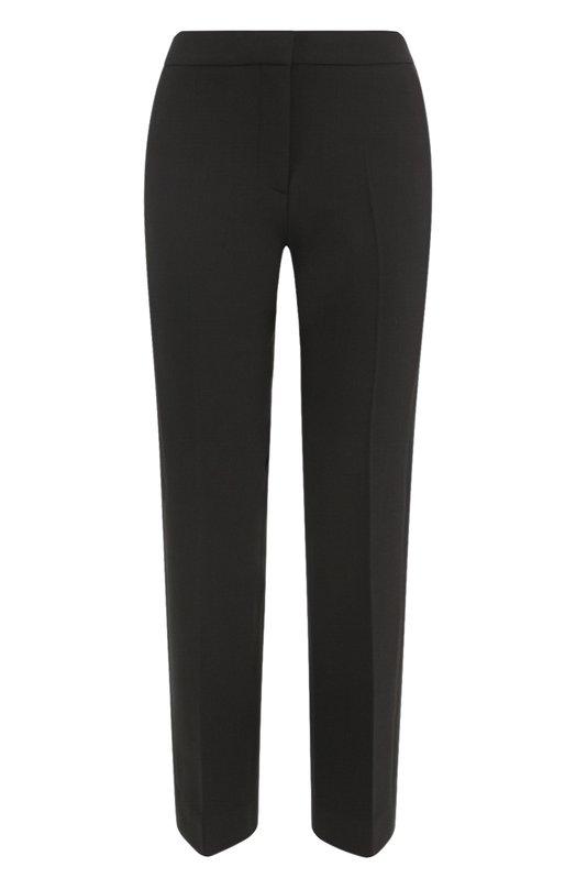 Укороченные брюки прямого кроя со стрелками Victoria by Victoria Beckham TRVV 042 PAW17 SP0NGE W00L BLEND