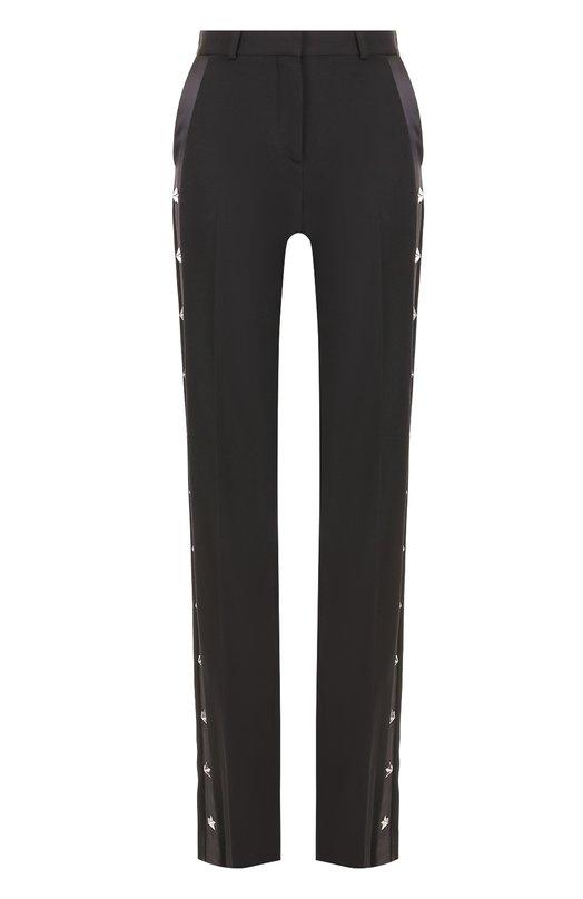 Брюки прямого кроя с декорированными лампасами Givenchy 17X5119120