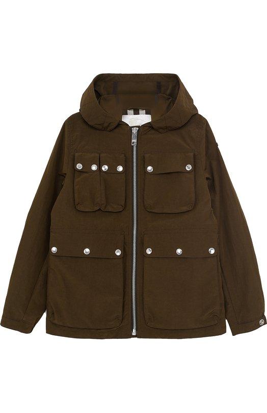 Куртка на молнии с накладными карманами Burberry 4047807