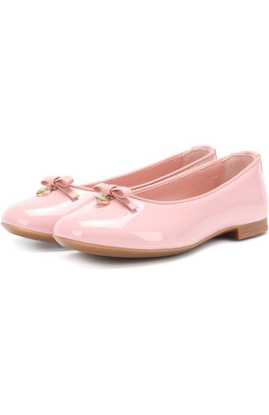 Лаковые балетки с бантом Dolce & Gabbana 0132/D10341/A1328/19-28